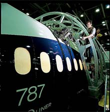 B787 en production